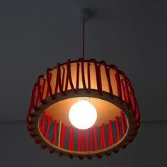 Macaron Oak Lamp, Red -  - Lights - EMKO - Space & Shape - 4