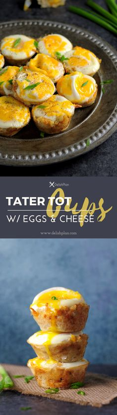 Eggs and Cheese baked with tater tots in a muffin pan, those tater tot cups are great breakfast and they are easy to make. Watch the video to learn how. Tater Tot Recipes, Crockpot Recipes, Cooking Recipes, Diet Recipes, Atkins Recipes, Ketogenic Recipes, Diabetic Recipes, Ketogenic Diet, Chicken Recipes