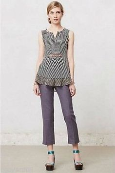 5d8f8acdcbb Anthropologie Stovepipe Cropped Trousers by Elevenses Cropped Trousers