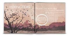 Magazine double page spread