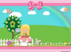 "Kit Personalizados ""Jardim Encantado"" para Imprimir - Convites Digitais Simples"