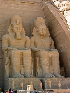 Statues of Ramses II at the Temple of Abu Simbel, Lake Nasser, South of Egypt. If I don't end up going to Egypt I would probably cry.