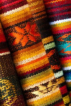 Ecuador is full of bright colors, from the food to the fabric. The traditional woven fabrics in Ecuador are some of the most beautiful in South America. Photo by Quinto Sol Photography on Flickr.