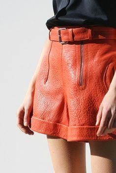 Colored Leather Shorts // ORANGE http://therookie.pl/kategoria/okulary/hero-pomaranczowy