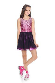 Star Confetti Mesh Princess Dress