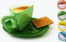 Wake up with a Smiley Face Coffee Mug and Saucer | Designs & Ideas on Dornob