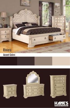 Here's an easy tip to save space while catching Z's: consider Kane's collection of fancy, yet functional storage beds. The Riviera Bedroom set offers deep, spacious drawers perfect for storing blankets, pillows and other bedroom essentials.