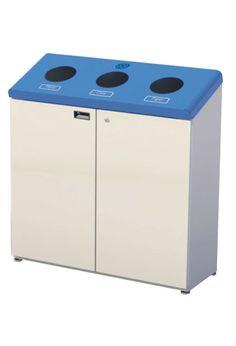 station de recyclage frost 3 compartiements poubelles. Black Bedroom Furniture Sets. Home Design Ideas