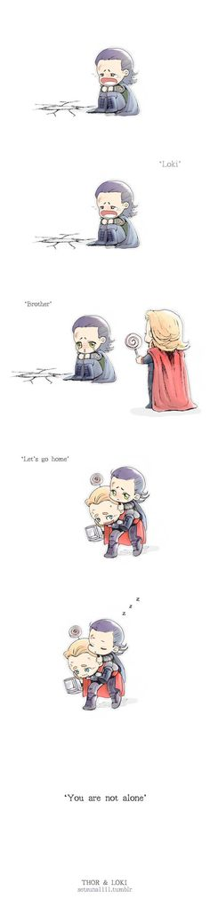 Loki and Thor . Soooo cute . . . and sad.