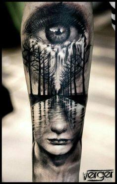 . #armtattoosmen Creepy Tattoos, Badass Tattoos, Great Tattoos, Skull Tattoos, Forearm Tattoos, Unique Tattoos, Body Art Tattoos, Sleeve Tattoos, Tattoos For Guys