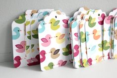 Ducky gift tags - baby shower favors