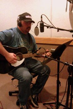 """In the studio recording my new song """"Gone""""."""