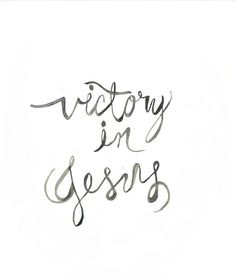 Oh Victory in Jesus, my savior forever, he sought me and he bought me, with his…