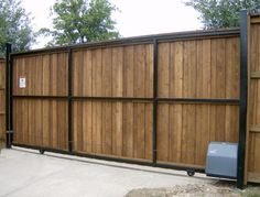 Sliding Automatic Driveway Gate-Painted Gloss Black