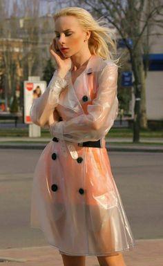 Clear Raincoat, Vinyl Raincoat, Pvc Raincoat, Plastic Raincoat, Vinyl Clothing, Raincoats For Women, Rain Wear, Macs, High Waisted Skirt