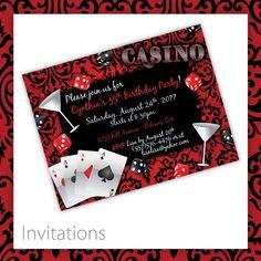 Casino Party Invitations Casino Blush . by BlackCherryPrintable