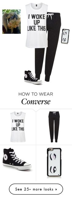 """""""Just Woke Up"""" by hanakdudley on Polyvore featuring Topshop, Private Party, Converse and Kate Spade"""