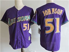 15b98e17d Arizona Diamondbacks  51 Randy Johnson Purple Cooperstown Collection Cool  Base Jersey