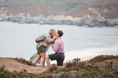 He brought all the romance with this amazing beach proposal in Big Sur.