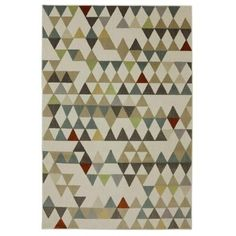 Mohawk Home Diamond Patch Linen 6 ft. 5 in. x 10 ft. Area Rug - 436896 at The Home Depot $197