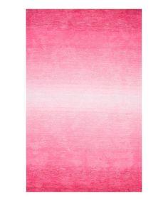 Another great find on #zulily! Pink Ombré Bernetta Rug #zulilyfinds