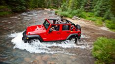 You know you've always wanted one. Jeep® Wrangler Unlimited Rubicon in Flame Red.+