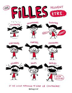 Élise Gravel, dessinatrice canadienne, s'attaque aux clichés sexistes avec l'arme qu'elle maîtrise le mieux : son crayon. Une affiche géniale.