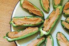 Jalapenos stuffed with almond butter?