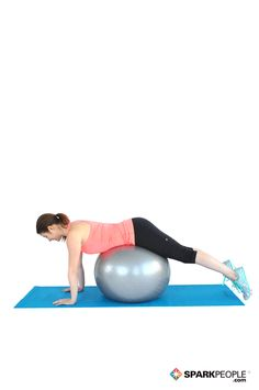 Work your lower back with a stability ball. Love this move! | via @SparkPeople #exercise #workout #fitness #lowerback