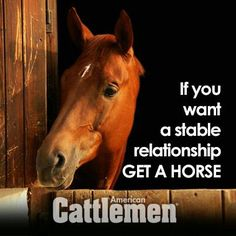 Hahaha...if you want a STABLE relationship