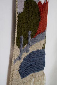 Large hand knitted wall hanging // Nursery decor by OnwardOnward