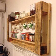 Pallet Kitchen Utensil #Shelf + Rack - 150+ Wonderful Pallet Furniture Ideas | 101 Pallet Ideas - Part 8