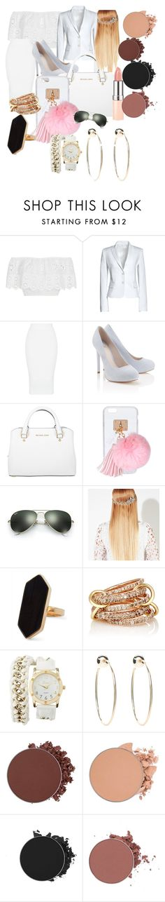 """""""Untitled #80"""" by adorably3vil on Polyvore featuring Miguelina, Canvas by Lands' End, Lipsy, Michael Kors, Ashlyn'd, Ray-Ban, John Lewis, Jaeger, SPINELLI KILCOLLIN and Charlotte Russe"""