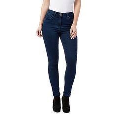 Red Herring Dark blue 'Heidi' high-waisted skinny jeans-   Debenhams