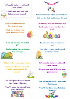 Easter Hunt Riddle Free Printable