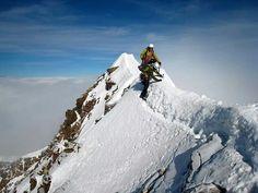 Monte Lyskamm, 4527. Famoso por su cresta en forma de navaja. Alpes Suizos