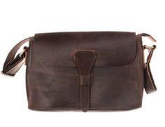 Bronze Times Vintage Disdressed Leather Luggage Messenger Shoulder Bag (Brown)