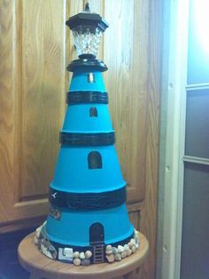 how make a lighthouse from clay pots - Google Search