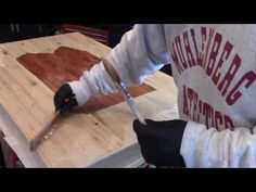 How to - Epoxy resin bar top crystal clear glaze coat - YouTube