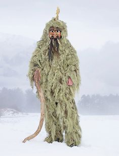 AUSTRIA  Every five years the men of Telfs collect lichen to create Wilder Mann, or Wild Man, costumes for the town's Carnival festival. Tradition dictates that they nibble on a piece of this lichen before the festivities.