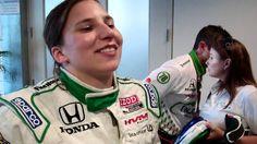 Simona de Silvestro interview, Qual Day 1, Indy 500 2011.MP4