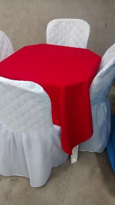 * Rechaud 45,00 * Jogo de Mesa 10,00 * Capas de Cadeiras 2,50   Toalhas de Mesa para Festas  8,00 Nas cores: Branca, azul e vermelha  Telefones (11) 4057-2710 (11)9 8589 3043 WhatsApp