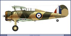 Gloster Gladiator Mk 2 0f 127 Squadron by Clavework Graphics