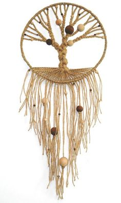 macrame tree #DIY #craft. Make a small version as a pendant.