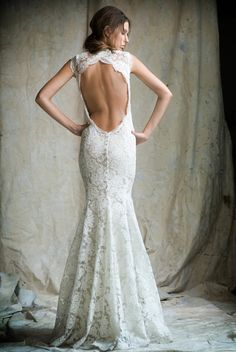 Designer backless wedding dresses