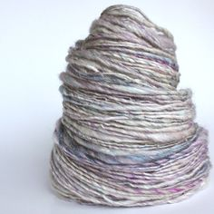 Hand spun thick and thin yarn