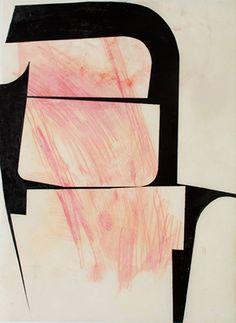 Katrin Bremermann, Sans titre, Laque sur papier ciré, 35 x 29.7 cm