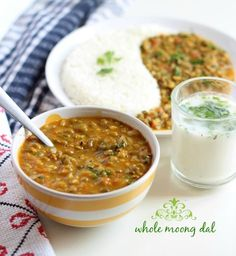 green moong dal recipe step by step - akha mung dal recipe best served with steamed rice or jeera rice. simple easy recipe of sabut moong dal. Healthy Food Recipes, Veg Recipes, Curry Recipes, Indian Food Recipes, Cooking Recipes, Indian Foods, Simple Recipes, What's Cooking, Drink Recipes