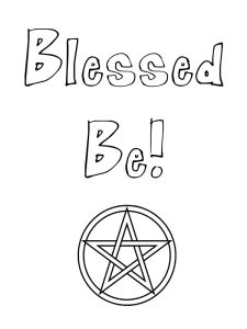 Pagan expression coloring pages