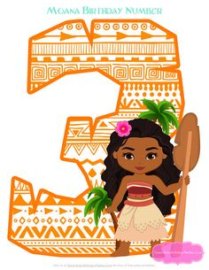 MOANA PARTY - MOANA Centerpiece - over 20 Graphics to design our own Moana party decorations. Great for Photo Booth props too!